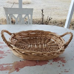 Other - Wicker basket tray with handles